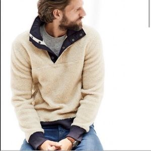JCrew Men's Sherpa Fleece Pullover